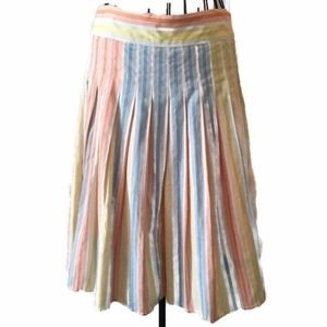 Anthropologie Odille Striped Pleated Skirt